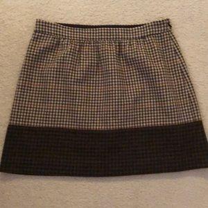 J.Crew herringbone brown skirt size 8